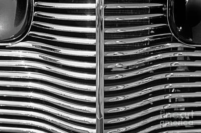 Photograph - Classic Car Grill Front Of Car by Jim Corwin
