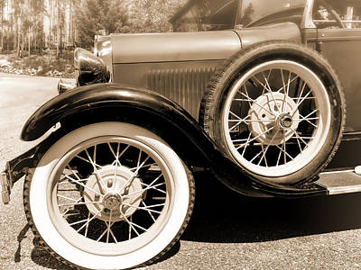 Photograph - Classic Car In Sepia - Photography by Ann Powell