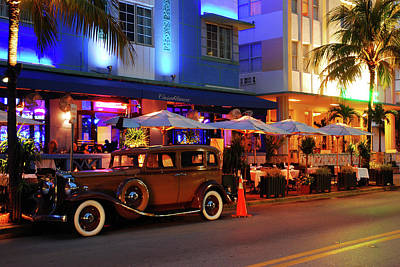 Photograph - Classic Car In South Beach by James Kirkikis