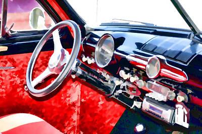 Classic Car Interior 10 Art Print