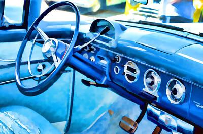 Classic Car Interior 13 Art Print