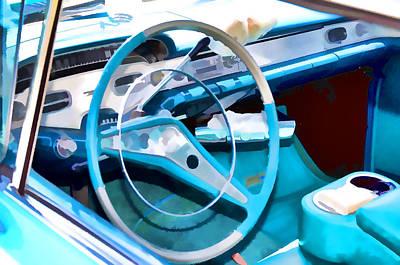 Classic Car Interior 7 Art Print