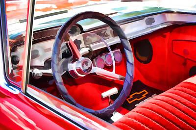 Classic Car Interior 8 Art Print