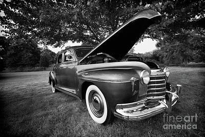 Photograph - Classic Car Oldsmobile Bw by Dan Carmichael