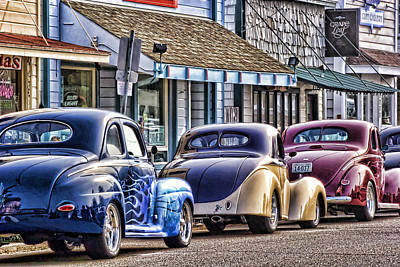 Classic Hot Rod Photograph - Classic Car Show by Carol Leigh