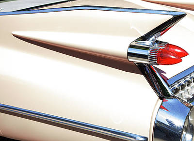 Photograph - Classic Car Tail Fins by Theresa Tahara
