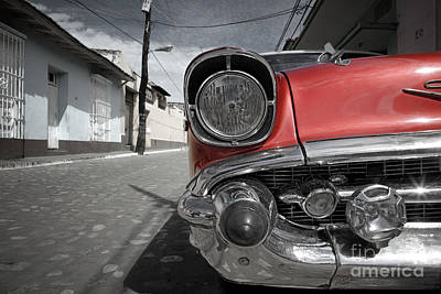 Cuban Photograph - Classic Car - Trinidad - Cuba by Rod McLean