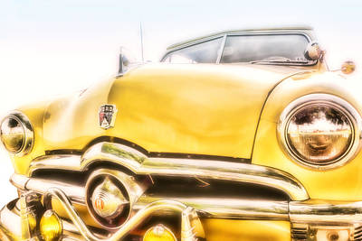 Photograph - Classic Car Yellow Ford Rag Top by Ann Powell