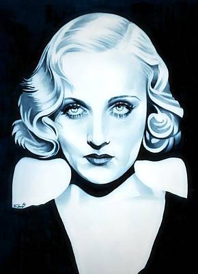 Platinum Drawing - Classic Carole Lombard by Fred Larucci