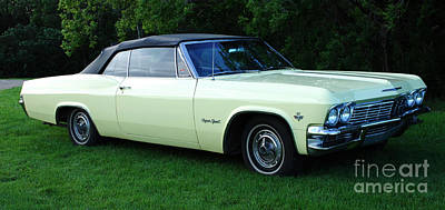 Classic Chev Photograph - Classic Cars 1965 Chevrolet Impala Super Sport Convertible by Bob Christopher