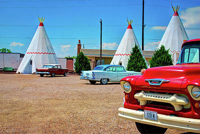Photograph - Classic Cars And Wigwams - Historic Route 66 by Gregory Ballos