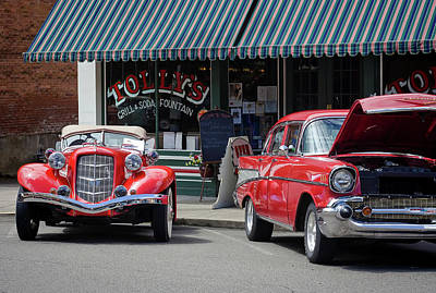 Photograph - Classic Cars At Tollys 2 by Tyra OBryant