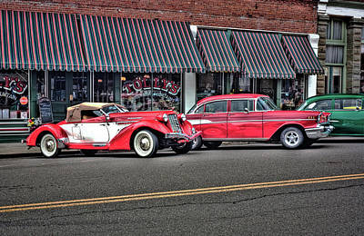 Photograph - Classic Cars At Tollys by Tyra OBryant