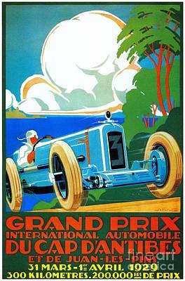 Classic Cars Motor Racing Grand Prix French Riviera 1929  Art Print