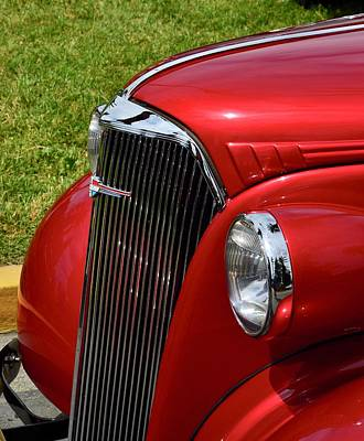 Photograph - Classic Chevy Grille by Dean Ferreira