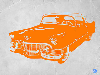 Midcentury Modern Digital Art - Classic Chevy by Naxart Studio