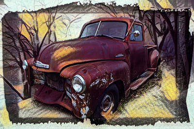 Photograph - Classic Chevy Pickup Truck In Style by Debra and Dave Vanderlaan