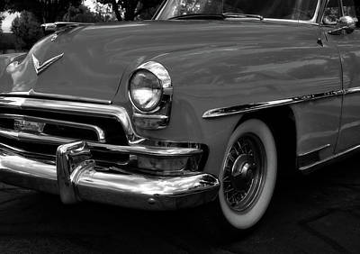 Photograph - Classic Chrysler New Yorker Bw by David King