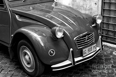 Photograph - Classic Citroen In Rome by John Rizzuto