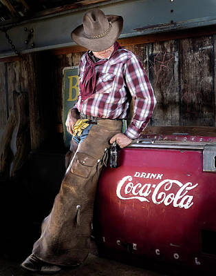 Photograph - Classic Coca-cola Cowboy by James Sage