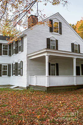 Concord Photograph - Classic Colonial Home by Edward Fielding