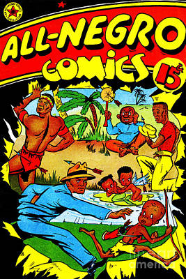 Photograph - Classic Comic Book Cover All Negro Comics by Wingsdomain Art and Photography