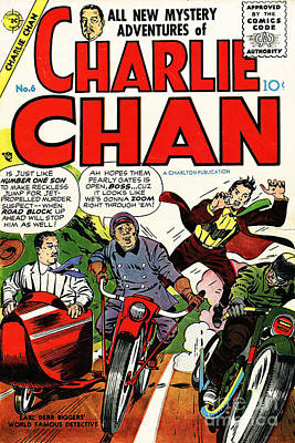 Photograph - Classic Comic Book Cover Charlie Chan 6 by Wingsdomain Art and Photography