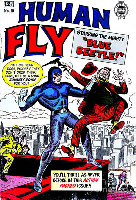 Photograph - Classic Comic Book Cover - Human Fly - 0118 by Wingsdomain Art and Photography