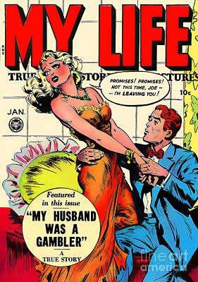 Photograph - Classic Comic Book Cover My Life January by Wingsdomain Art and Photography