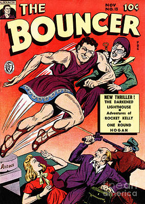 Photograph - Classic Comic Book Cover The Bouncer 13 by Wingsdomain Art and Photography