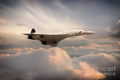 Airways Digital Art - Classic Concorde by J Biggadike