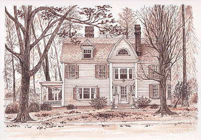 Drawing - Classic Connecticut by Michelle Welles