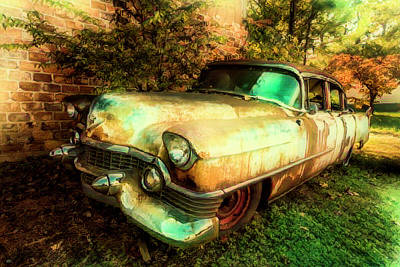 Photograph - Classic Country Cadillac Painting  by Debra and Dave Vanderlaan