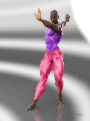Ballet Dancers Digital Art - Classic Dancer In Meshes by Joaquin Abella