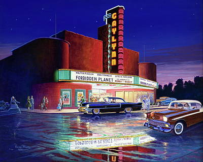 Painting - Classic Debut -  The Gaylynn Theatre by Randy Welborn