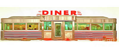 Photograph - Classic Diner Mug by Edward Fielding