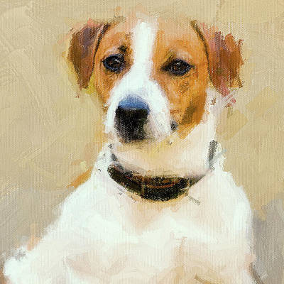 Digital Art - Classic Dog Portrait by Yury Malkov