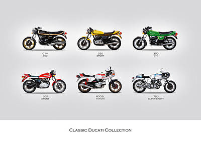 Classic Ducati Collection Art Print by Mark Rogan