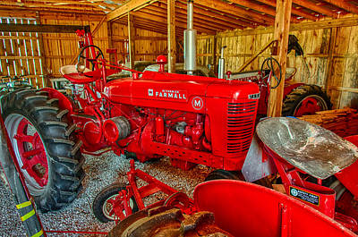 Photograph - Classic Farmall M Series Tractor by Gene Sherrill