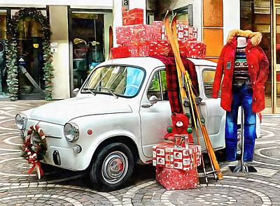 Photograph - Classic Fiat Christmas by Dorothy Berry-Lound