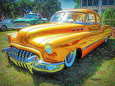 Digital Art - Classic Fifties Buick - Cruising The Coast by Rebecca Korpita