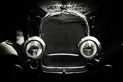Photograph - Classic Ford. Black And White by Jenny Rainbow