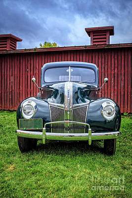 Hubcap Wall Art - Photograph - Classic Ford Canterbury Shaker Village by Edward Fielding