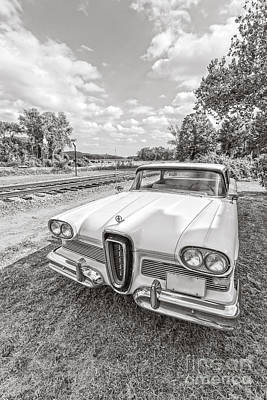 Railroad Photograph - Classic Ford Edsel by Edward Fielding