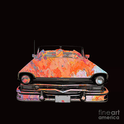 Photograph - Classic Ford Fairlane Convertible Painted by Edward Fielding