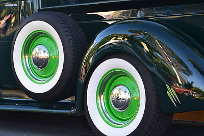 Photograph - Classic Ford Pickup Truck Wheels by Dean Ferreira