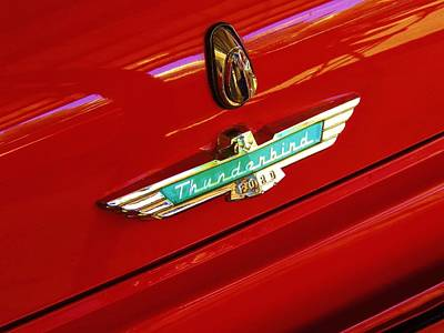 Classic Ford Thunderbird Emblem Art Print