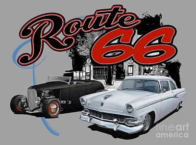Classic Fords Art Print