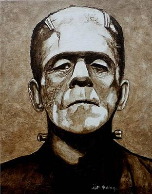 Painting - Classic Frankenstein by Al  Molina