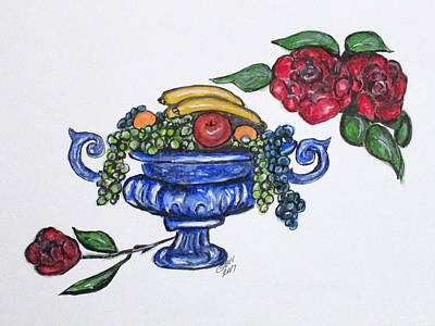 Painting - Classic Fruit Bowl by Clyde J Kell